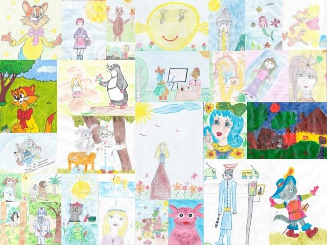 Коллаж для детских рисунков